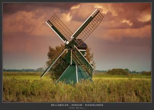 Friesland, Mühle - Niederlande