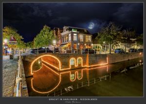 Gracht in Harlingen - Niederlande
